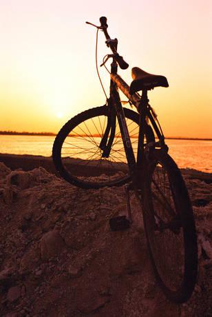 Bike e sunset