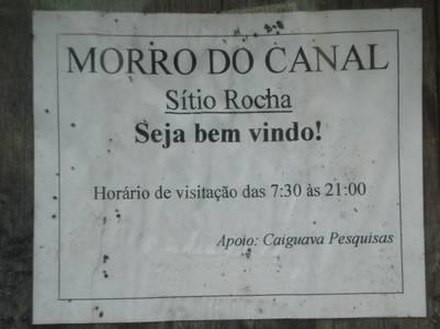 Placa morro do canal sítio Rocha