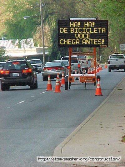 Estrada em construção (construction)