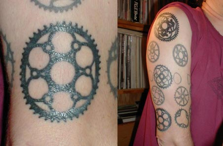 Tatuagens coroa bicicleta