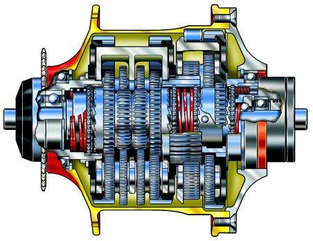 Geared hubs