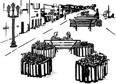 Ruas das Flores, o início de tudo. Ilustração de Leila Pugnaloni.