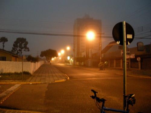 Neblina: começou o outono.