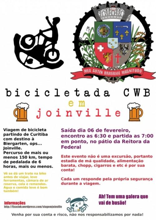 Bicicletada Curitiba em Joinville